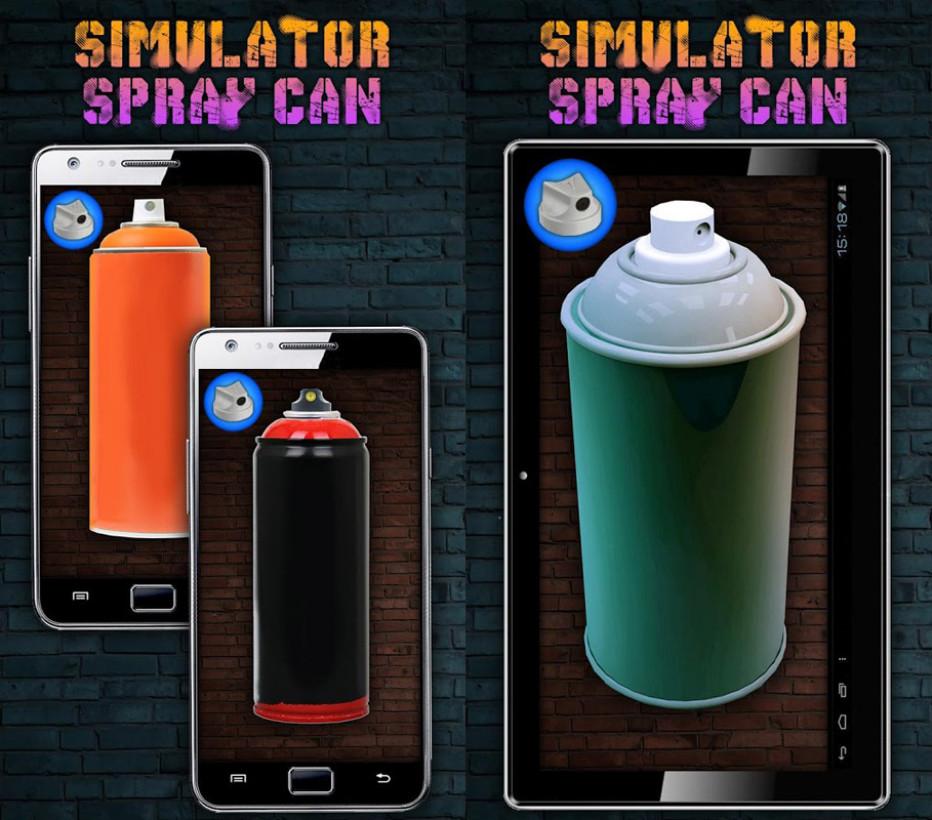Simulator Spray Can