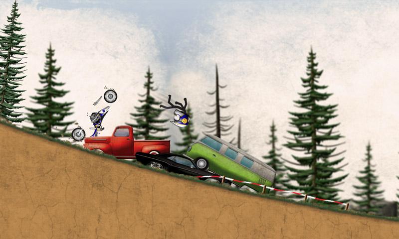 Stickman Downhill - Motocross 02